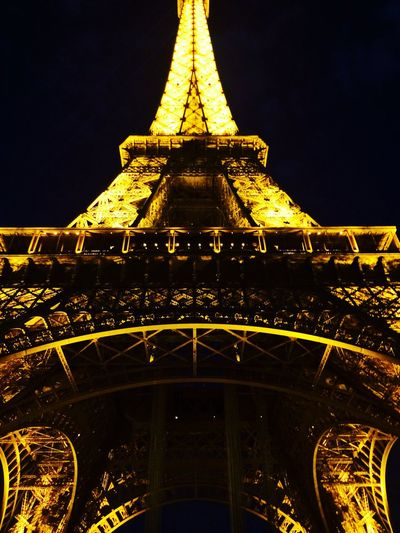 Paris Eiffel Tower LastNight Lights Beautiful Check This Out