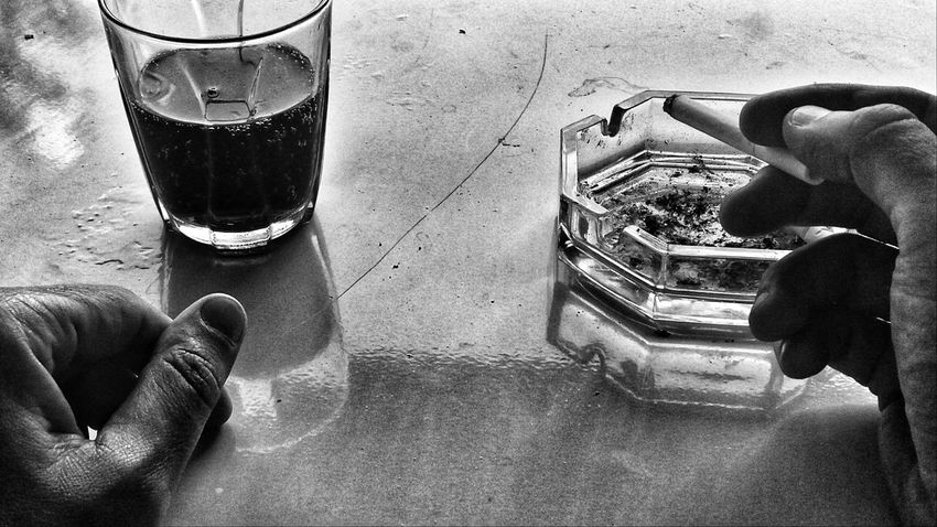 EyeEm Man Black And White Blackandwhite Photography Drink Drinking Glass Table Close-up