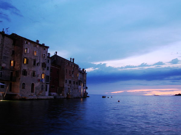 Citt Croacia Croazia Rovinj Sea Sunset Water