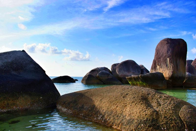Tanjung Tinggi Beach, Belitung Island, Indonesia. EyeEmNewHere EyeEm Best Shots Eyeemphotography EyeEm Best Shots - Landscape EyeEm Indonesia Landscape Beach Pantai EyeEm Selects Eyr Water Sea Beach Outdoors Cloud - Sky Sky Travel Destinations Beauty In Nature Day Nature