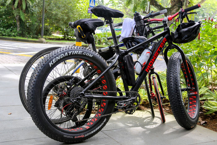 Bicycle Day Helmet Land Vehicle Mode Of Transport No People Outdoors Sport Sport Bikes Stationary Transportation