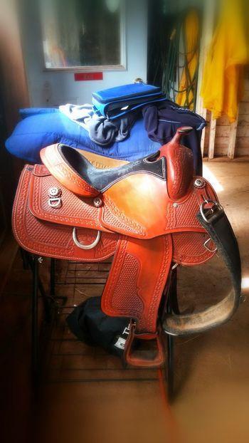 Saddle Western Style Leather Horse Barn