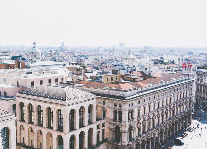 Milano, Duomo rooftop view Architecture Building Exterior Built Structure City Cityscape Clear Sky Day Dome M No People One Person Otaly Outdoors Picoftheday Roof S Sky Skyline