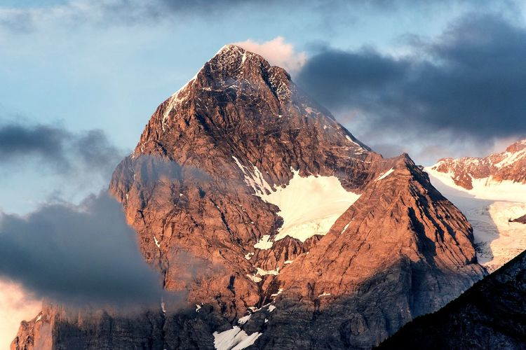 The eiger at sunset