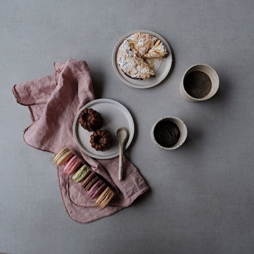 sunday sweets and coffee Coffee EyeEm Selects High Angle View Food And Drink Gray Background No People Bowl Studio Shot Directly Above Indulgence Ready-to-eat Sweet Food Variation Indoors  Food