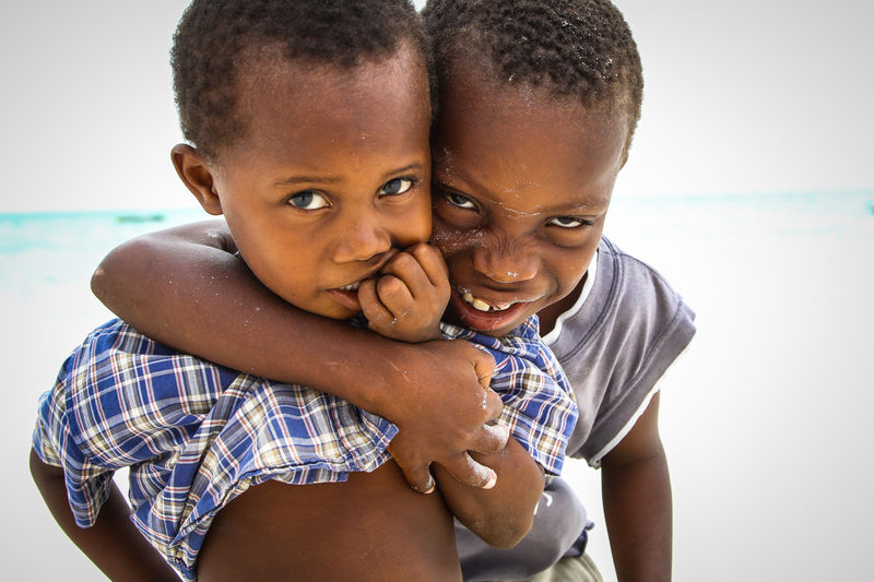 Brothers for life Care Positive Emotion Looking At Camera Innocence Togetherness Portrait Family Childhood Child Children Boys Boy Brothers Tanzania Zanzibar Moments Of Happiness Real People Bonding Son Lifestyles My Best Photo