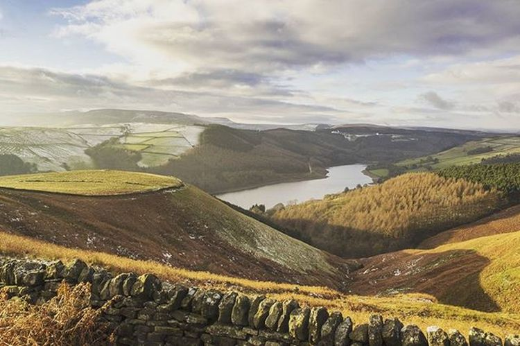 PeakDistrict Mountains Ladybowerreservoir Sunset Autumn Landscape Nature Hiking View
