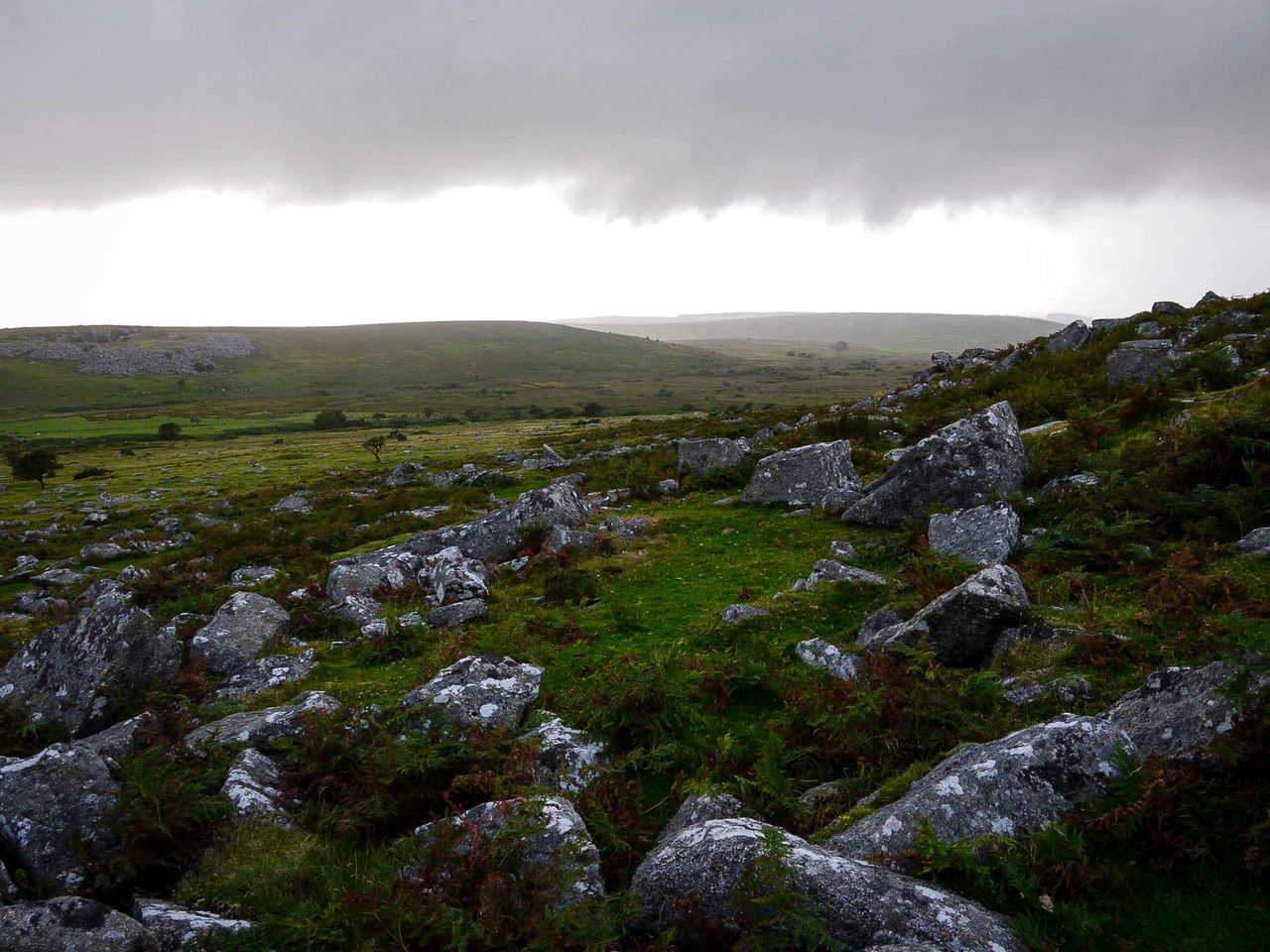 View Of Rocky Landscape Against Cloudy Sky