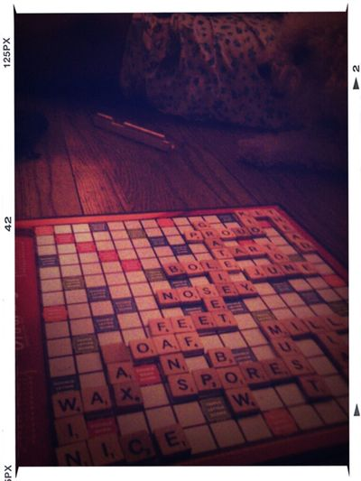 Playing Scrabble ...