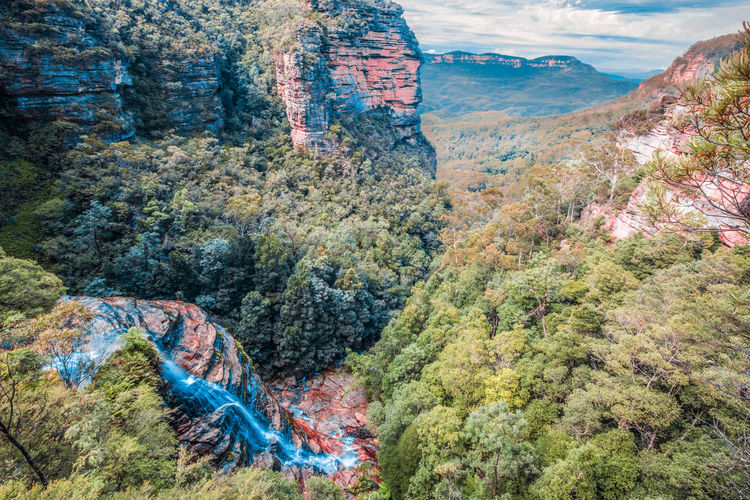 Wentworth falls, Blue Mountains, Australia. Australia Australian Landscape Beautiful Blue Mountains NSW Australia Wentworth Falls Beauty In Nature Cliff Day Landscape Mountain Nature No People Nsw Outdoors Physical Geography Rock - Object Scenics Sky Tree Water Waterfall Wentworth