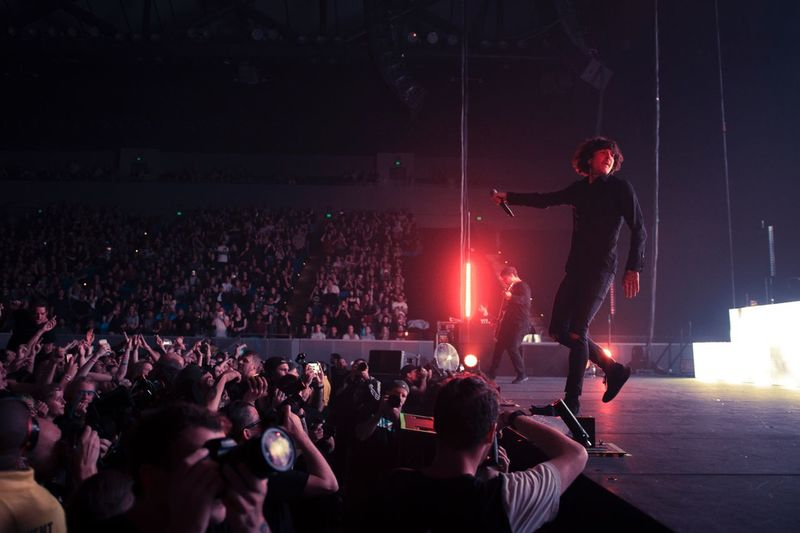 Bring Me The Horizon @ Margaret Court Arena 05.02.2017 Audience Performance Arts Culture And Entertainment Crowd Music People Popular Music Concert Event Bringmethehorizon Rock Music ThatsTheSpirit Musician Singer  Stage - Performance Space Music