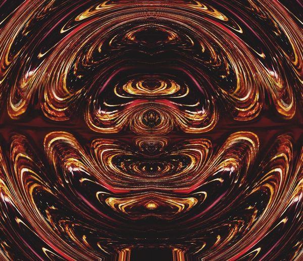 Goldandbrown Abstract Colors Perceptions And Concepts Christmas Monster Mandala
