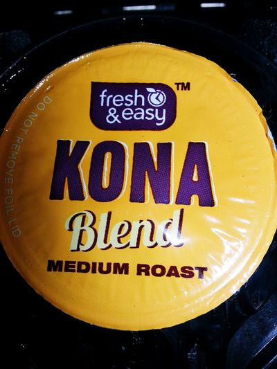 Coffee ☕ Fresh&Easy KonaBlend MediumRoast FreedomClip