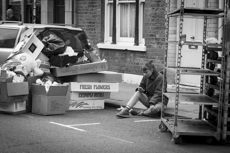 Cardboard Box City Garbage London People Real People Social Issues Streetphotography The Street Photographer - 2017 EyeEm Awards