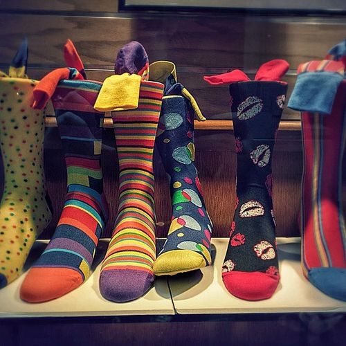 Now those are some socks! Brightcolors AndroidPhotography Socks Stripes patterns nexus6 feet lookingood annarbor kisses windowshopping