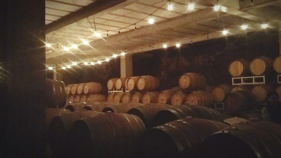 Barón Balche's ValleDeGuadalupe Rutadelvino Baronbalches Baja California Wine Cask Illuminated Cellar Alcohol Wine Winery Barrel Wine Cellar Warehouse Winemaking Electric Light