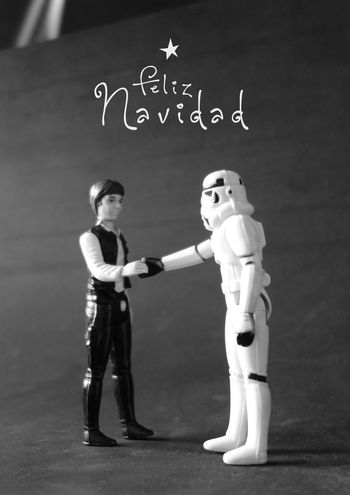 Feliz Navidad Star Wars Stormtrooper Han Solo Juguete Action Figure