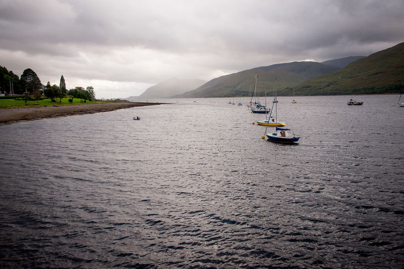 Loch Eil Loch Eil Architecture Beauty In Nature Cloud - Sky Day Landscape Mountain Nature Nautical Vessel No People Outdoors Sailing Scenics Sea Sky Tranquil Scene Tranquility Transportation Water Waterfront