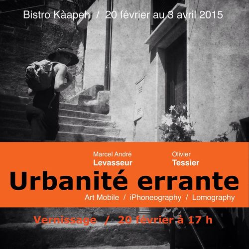 Our exhibit very soon in Sherbrooke at Kàapeh IPhoneography Mobileart Lomography