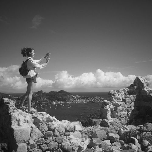 Photographer at Les Saintes IPhoneography Sky Lifestyles