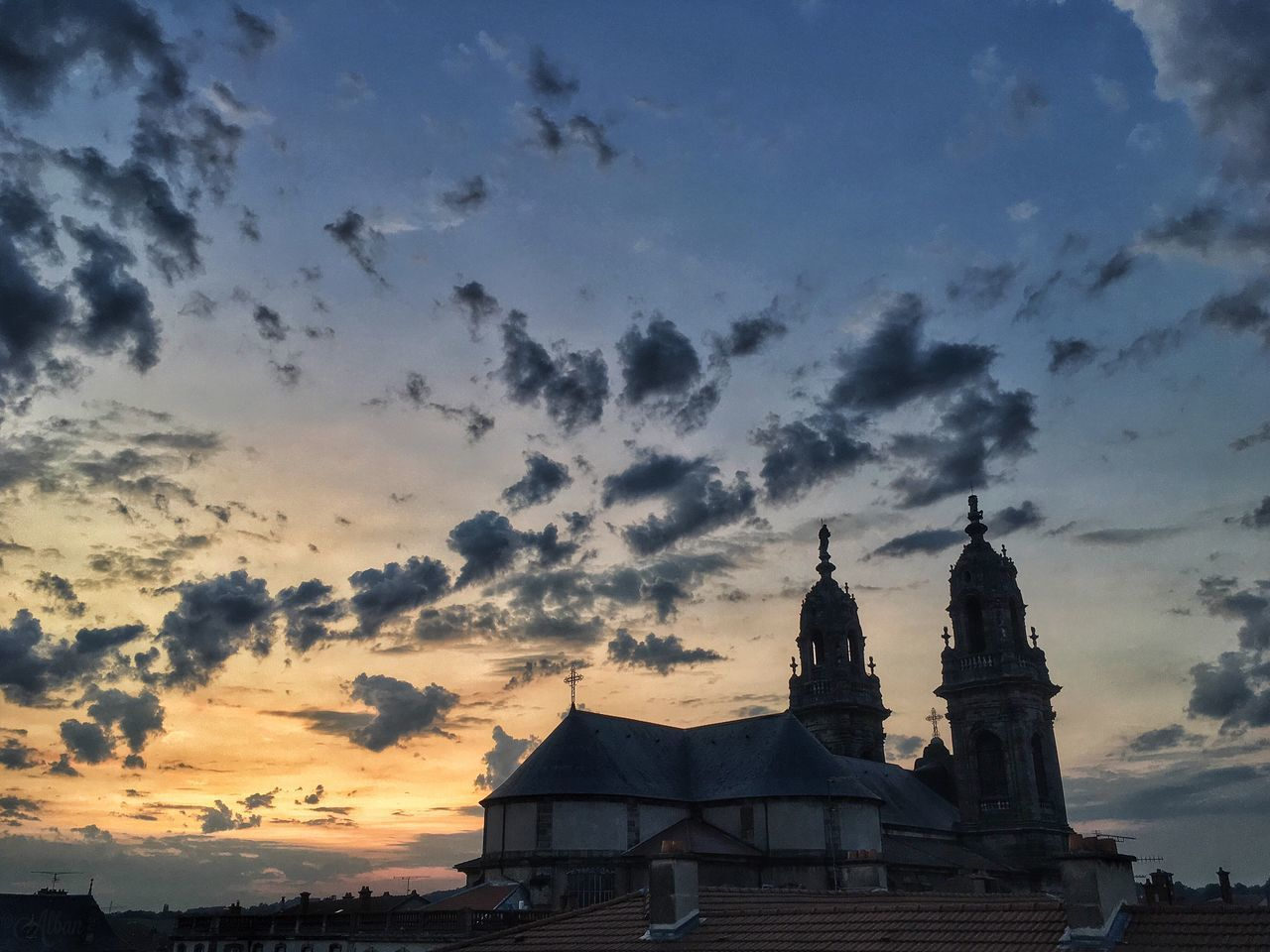architecture, sunset, built structure, building exterior, sky, cloud - sky, no people, outdoors, spirituality, place of worship, nature, beauty in nature, day
