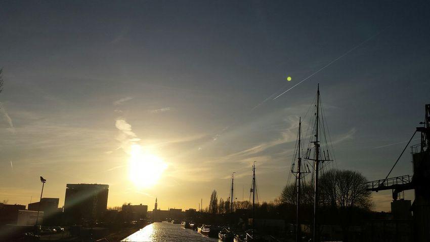 Groningen Sunset shopping from IKEA Myfuckinggroningen