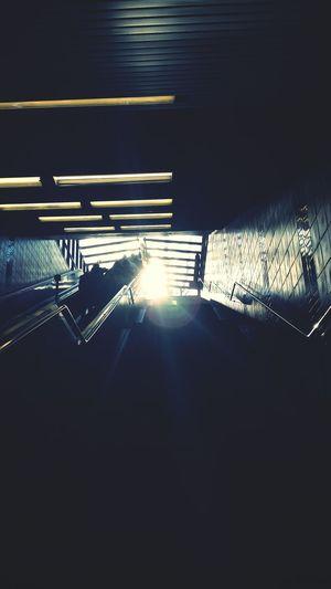Subway Escalator Sunset