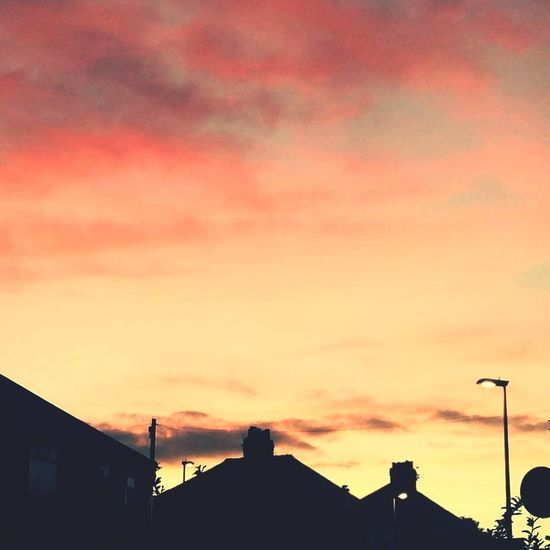 Bispham No People Outdoors Sunset Dramatic Sky Silhouette Cloud - Sky Sky Blackpool England Orange Sky