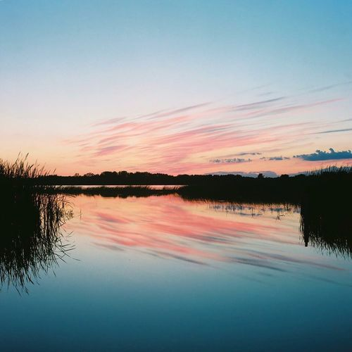 One of my first film photos I ever took. Reflection Sunset Water Scenics Beauty In Nature Tranquil Scene Nature Lake No People Tranquility Silhouette Sky Outdoors Tree Yashicamat124g Kodakektar100 Mediumformat Film Photography