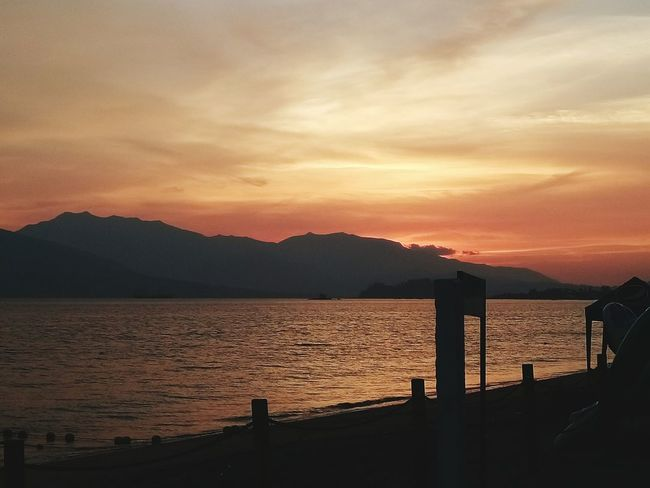 Sunset Mountain Landscape Tranquility Scenics Sea Water Outdoors Sky Beauty In Nature Beach Philippines Xperia C5 Ultra Subic