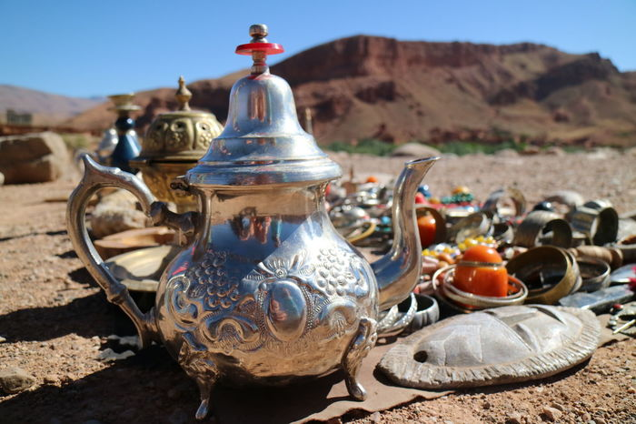 Art Morocco Selling Street Stall Tea Pot Todra Travel Travel Photography