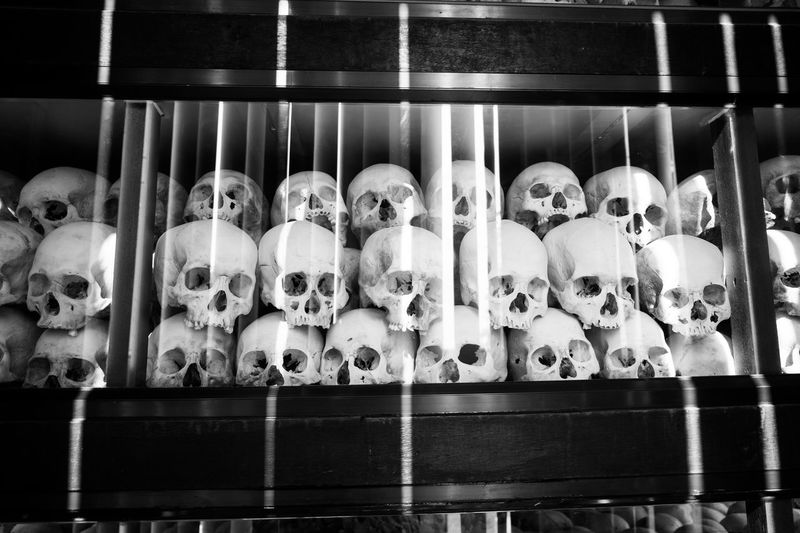 Blackandwhite Choeung Ek Choeung Ek Genocidal Centre Choeung Ek Killing Field Khmer Rouge Killing Fields Killingfields Skulls The Photojournalist - 2017 EyeEm Awards Victims