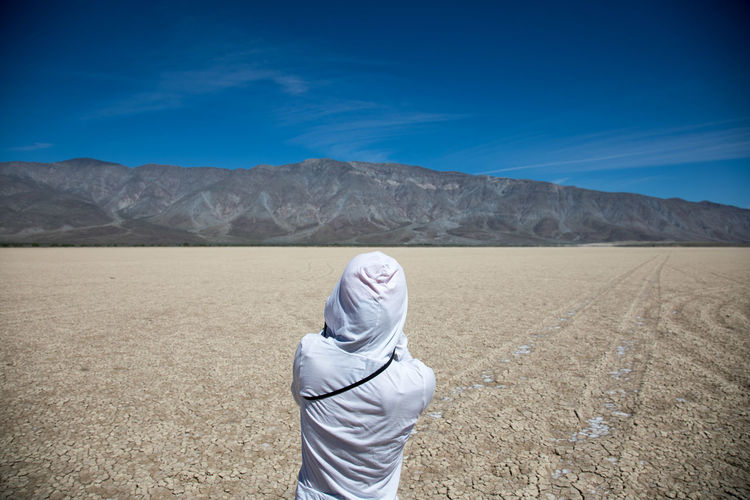 Anza Borrego Dry Lake Adult Adults Only Blue Clear Sky Day Lake Landscape Mountain Nature One Person Outdoors People Relaxation Sky Young Adult
