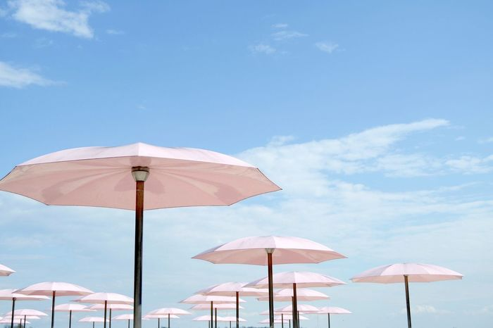 Pretty in pink Beach Toronto Umbrella Pink Sky
