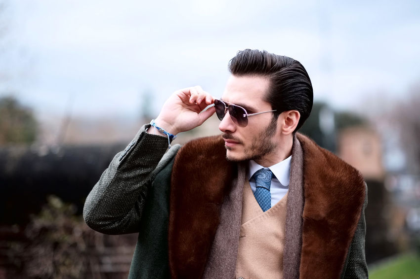 Omer, photographed at the 91st edition of Pitti Immagine Uomo in Florence. Close-up Fashion Fashionable Jacket Lifestyles Men Outdoors Real People Standing Street Fashion Style Stylish Sunglasses Well-dressed Young Adult