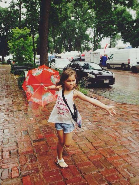 Playing In The Rain One Person Outdoors Rain Unbrellas Rainday Rainy Days☔