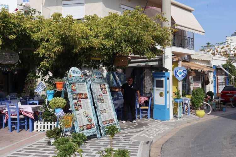 Greece Kos Travelphotography Taverna Building Exterior Architecture Plant Built Structure City Tree Real People Day Street Sunlight