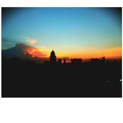 Good by Friday from where you can see the Bangkok skyline... BKK Bangkok BBKK Sky Skyline Skyviewer Sun Sunset Tgif