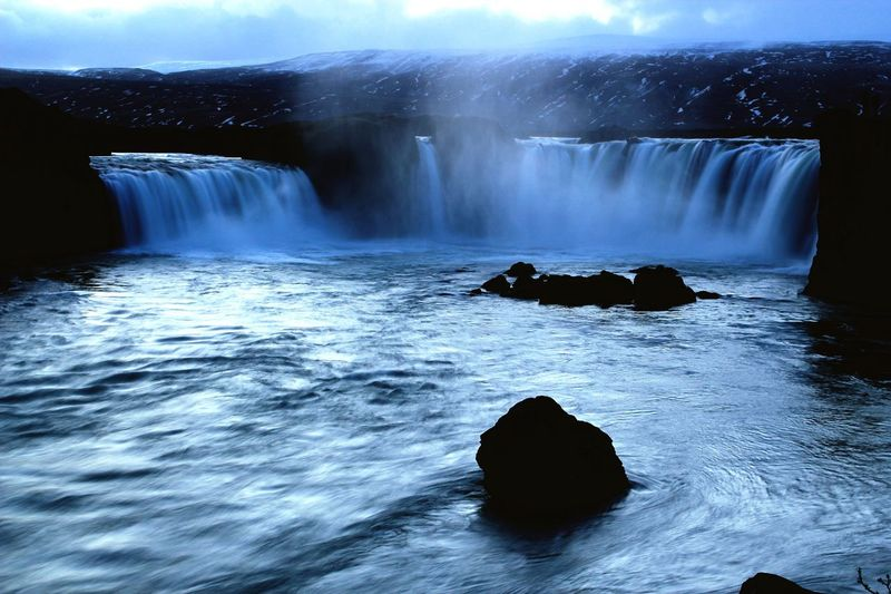 Godafoss Iceland Waterfall Nature Long Exposure Water Power In Nature Cold Temperature Outdoors First Eyeem Photo