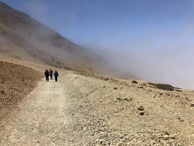 Hiking, Teide National Park, Tenerife 🇪🇸 Nofilter Teide National Park Mount Teide Volcano Teide Tenerife SPAIN Cloud - Sky Rock - Object Hiking Land Real People Leisure Activity Men Sky Desert Scenics - Nature Mountain Beauty In Nature Nature Travel