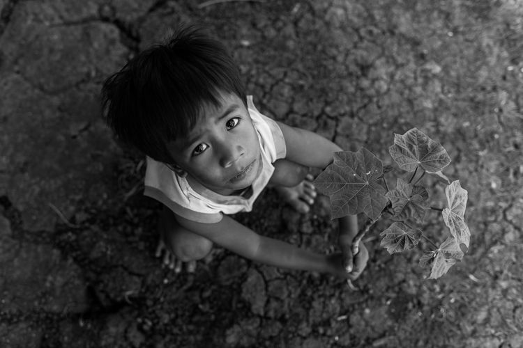 Nowadays climate change is the biggest problem of the human being. It is already happening and represents one of the greatest environmental, social and economic threats facing the planet. There's still Hope for the Future is the heartwarming and very challenging message of the young boy through his alluring eyes. The deep set innocence of a child's hope to stop climate change amidst the ongoing drought. An environment is the natural surroundings which help life to grow. Tree planting will save the future climate change and prevent drought and soil erosion.They give us oxygen to breathe in and absorb the carbon dioxide. So, we should promote forestation. #Envision The Future