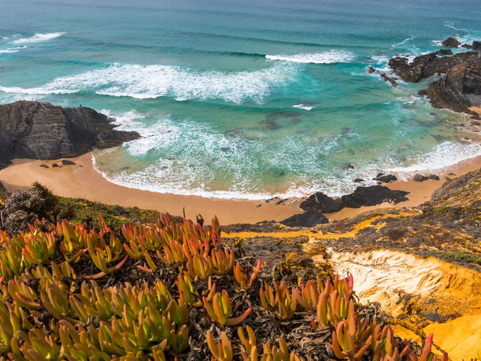 Landscape_Collection Nature Nature Photography Portugal Tranquility Travel Travel Photography Traveling Wave Beach Beauty In Nature Cavaleiro Day High Angle View Landscape Landscape_photography Motion Nature_collection Ocean Photography Scenics Scenics - Nature Sea Tranquil Scene Travel Destinations