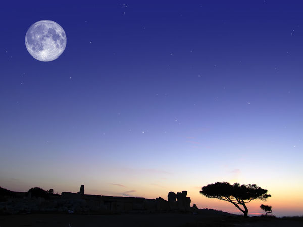 Hagar Qim Megalithic Temples Hagar Qim Hagar Qim Prehistoric Site, Malta Astronomy Beauty In Nature Clear Sky Galaxy Half Moon Megalith Megalithic Moon Nature Night No People Outdoors Prehistoric Prehistoric Life Scenics Sky Space Star - Space Sunset Tranquil Scene Tranquility Tree