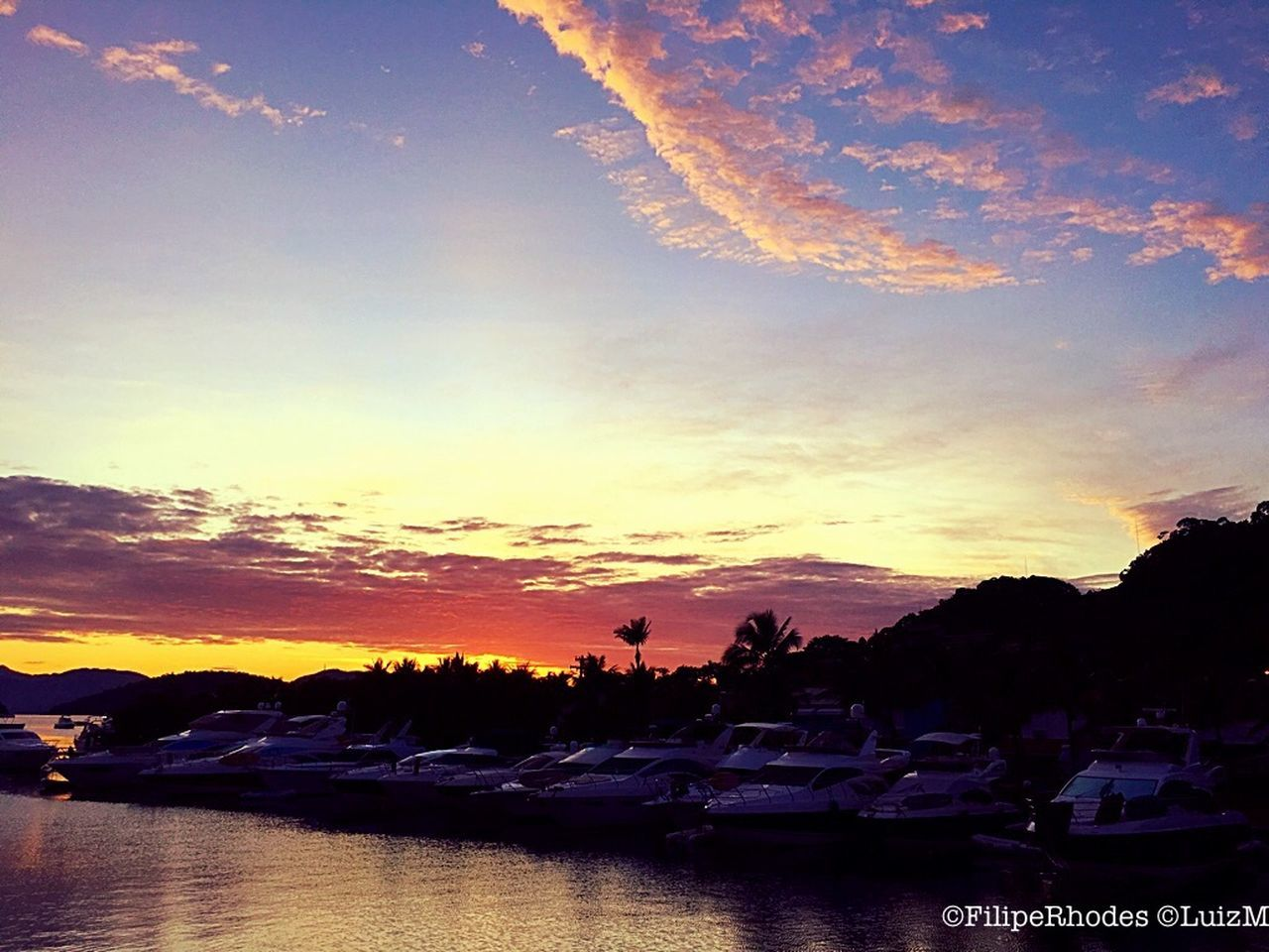 sunset, sky, water, scenics, silhouette, cloud - sky, beauty in nature, dramatic sky, nature, tranquility, tranquil scene, outdoors, sea, tree, nautical vessel, no people, mountain, building exterior, day