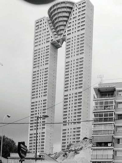 Monochrome Photography Architecture Benidorm 11M Inverted 2Towers