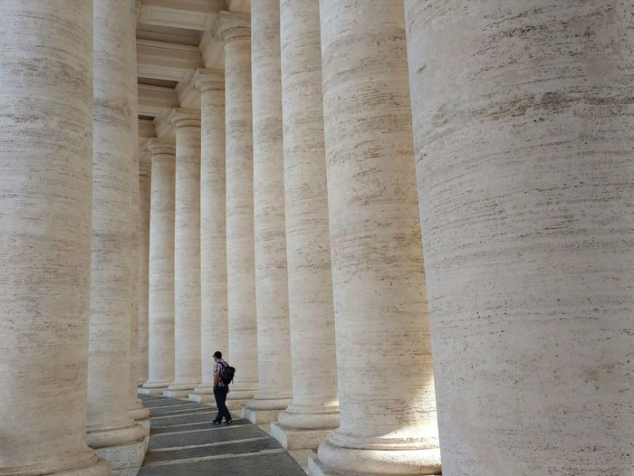 Architecture Colonnade Columns History Man One Adult Piazza San Pietro Rome St Peter's Square Travel Destinations Tuscan Colonnade Vatican Vatican City Neighborhood Map Fresh On Market 2017 Moving Around Rome