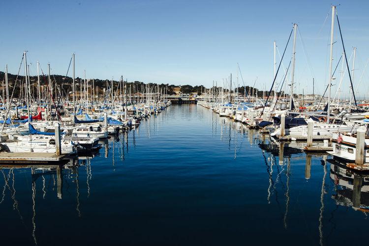 city by the sea Monterey Monterey Bay Hafeb Beauty In Nature Pacific Pacific Ocean Pazifik Meer Sea Wasser Water Boote Boat Segeln Küste
