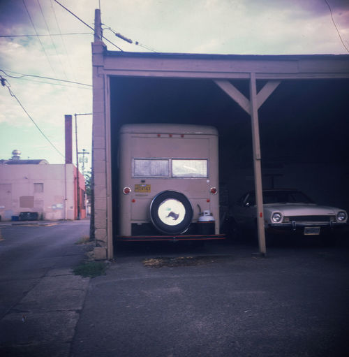 parked for the winter. Film 6x6 Medium Format Kodak Duaflex