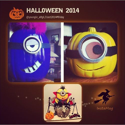 Minion halloween... ???LOL Happyhalloween Halloweentheme Halloweentime trickortreat friday 31oct2014younglic_alfgil funny funnyminion funtime InstaMagAndroid