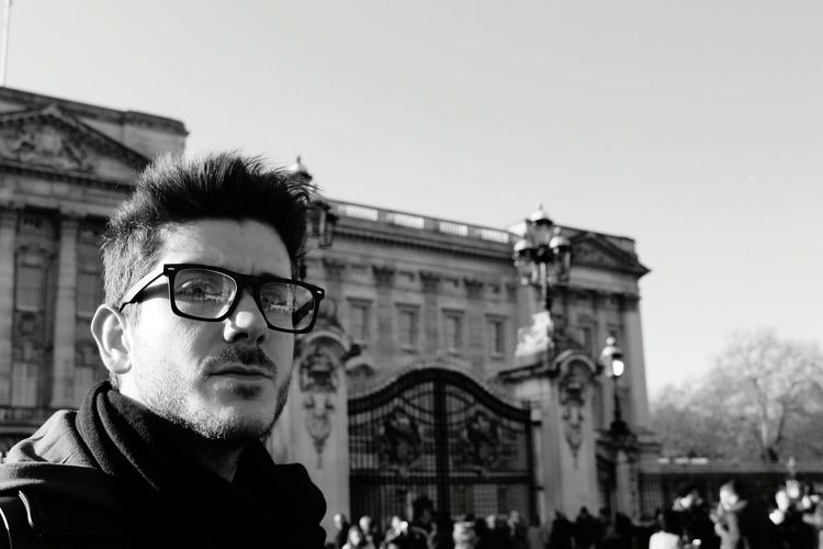 EyeEmNewHere Eyeglasses  Young Adult Adults Only One Man Only Clear Sky Only Men City Tourism One Person Adult Travel Destinations Architecture Outdoors Day Close-up Buckingham Palace London Lodonlifestyle Vacations Visiting Man Men Dude Model The Portraitist - 2017 EyeEm Awards The Great Outdoors - 2017 EyeEm Awards The Street Photographer - 2017 EyeEm Awards The Photojournalist - 2017 EyeEm Awards The Week On EyeEm